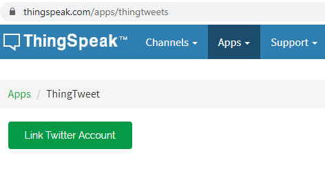 link twitter to thingspeak